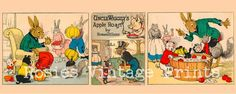 Apple Roast  Triptych  Childrens Story Book by RosiesVintagePrints