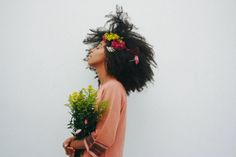 The Man Who Loved Flowers. 2/3  Fastest way to get flowers out of your hair? Shake it.  Briana King - February 2016  Photographed by - Brandon Stanciell