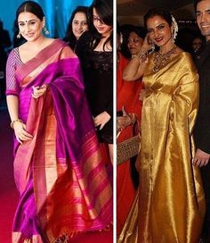 Lovely. #VidyaBalan #Rekha #IndianActress #BollywoodActress #Bollywood #Actress #Saree #Sari #Nice #Beautiful