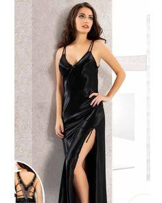 15814424d11 black nightdress Night Dress For Women