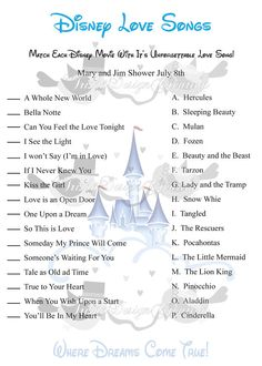 picture about Guess the Disney Movie Song Printable named 8 Least difficult Disney delight in audio pics within just 2017 New music, Simplest disney