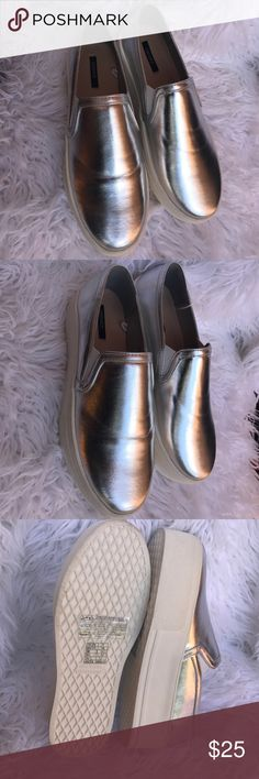 Forever 21 metallic silver platforms Brand new without box size 7 Forever 21 Shoes Platforms