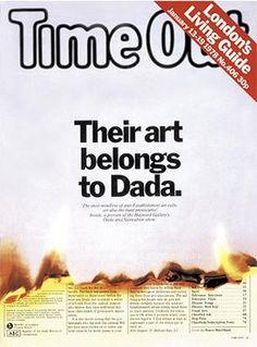 TimeOut Dada cover. Designed by Pearce Marchbank