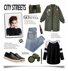 """""""City Streets!"""" by diane1234 ❤ liked on Polyvore featuring Mix Nouveau, Miu Miu, WithChic, City Streets, Cathy Waterman, Jimmy Choo, Bobbi Brown Cosmetics, Real Purity and NYX"""