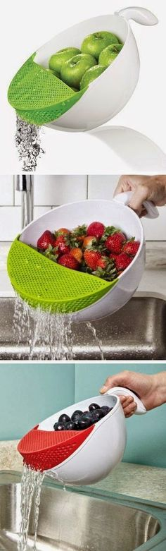 Fruits or veggies, soak & wash them easily & perfectly without them falling into the sink.