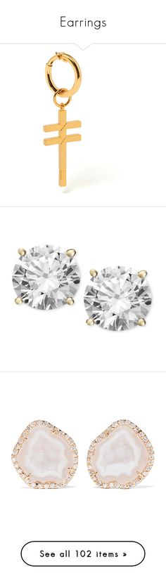 """""""Earrings"""" by oh-aurora ❤ liked on Polyvore featuring jewelry, earrings, cross jewellery, crucifix earrings, earring jewelry, crucifix jewelry, cross earrings, accessories, yellow gold and 14k earrings"""