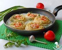 Гнезда с креветками в сливочном соусе ингредиенты