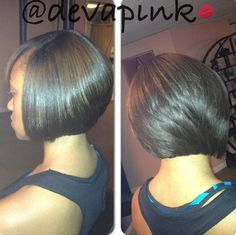 The texture, health, and color on this bob is GORGE!!! Precision cuts make a difference.