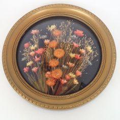 Vintage schilderijtje droogbloemetjes