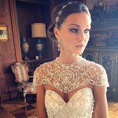 Boho wedding headpiece, Swarovski crystal filigree ribbon headband, vintage bohemian bridal headpiece, boho bride, short hair headpiece