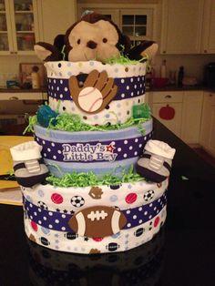 MVP Diaper Cake   Handmade Custom made $70.00