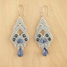 Boucles d'oreilles ANADE BLEU faits main latino. Bijoux fait main ethnique chic, 25.90€