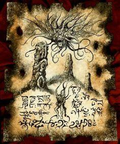 DUNWICH HILLS cthulhu larp Necronomicon Fragment by zarono                                                                                                                                                                                 Plus
