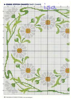 1/2 daisies -- circle and square border