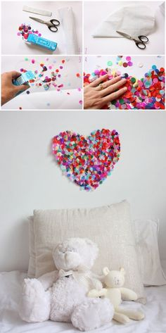 DIY confetti heart | mommo design