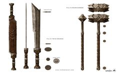 Concept Art for THE HOBBIT - Warg Riders, Costumes, and Weapons — GeekTyrant