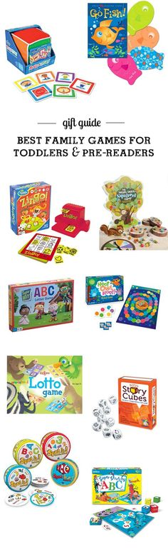 gift guide: best games to start a family game night with toddlers and pre-readers