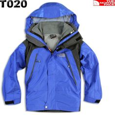 North Face Blue 3 in 1 Gore Tex Kids Jacket Sale