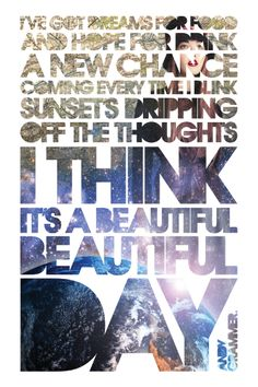 """Lyrics from """"Lunatic"""" by Andy Grammer, captured in a trendy poster print."""