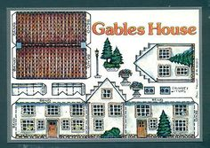 P1860 Fiddler's Green Cut Out Postcard - Gable's House