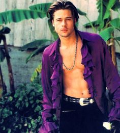 Brad Pitt (I almost want to put this on the Purple Dress board instead. Dude, that's a BLOUSE!) XD