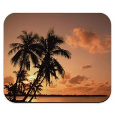 Tropical Island Beach Sunset Sunrise Mouse Pad