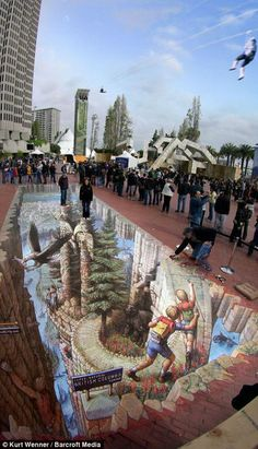 3D Street Art by Kurt Wenner | See More Pictures | #SeeMorePictures