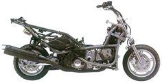 Suzuki Burgman Scooter Frame with Engine