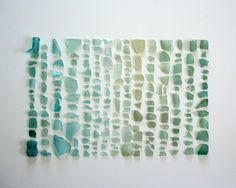 Sea glass art idea. So pretty.