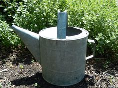Vintage Large Galvanized Watering Can Metal by RascalsRarities