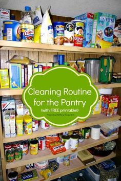 Printable Cleaning Routine For The Pantry - Know what you have and how to organize it