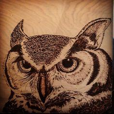 Finished Frank the owl this morning. Now just need to build a frame for him. So much fun! #wood #woodworking #pyrography #woodburning #woodcanvas #artonwood #personalisedgifts #woodproject #woodcraft #fireart #handmadegifts #pyrography_artists #art_collective #artist #art #kcartist #kc #kansascityartist #artistsoninstagram #instaart #owl #owlart #owls #owlsofinstagram #owlsaddicted #owlsome #wood #pen #burnbabyburn #followme