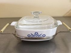 Corning Lidded Casserole With Stand by PineStreetPickers on Etsy
