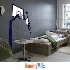 Sports Wall Decal - Basketball Vinyl wall decal sticker