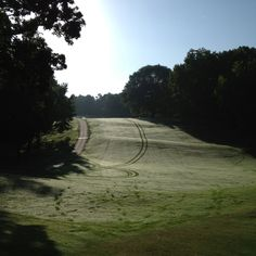 Tega Cay Golf Course. Hole #1. 730am. Beautiful Dew from the Evening Before.