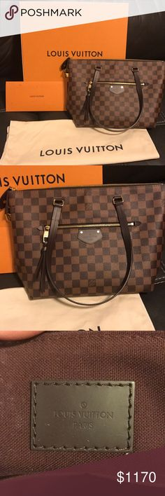 Louis Vuitton Iena PM Just like new Louis Vuitton PM! Bag is less then 6 months old and in excellent condition. New model Louis Vuitton! Original box, duster, proof of purchase and authenticity! Please inquire of more pictures are needed! Louis Vuitton Bags Totes