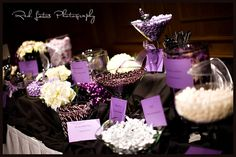 """Really like the idea of a """"purple"""" candy bar at a wedding..."""