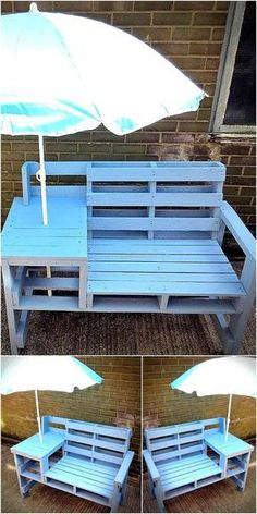 pallets patio bench idea 10