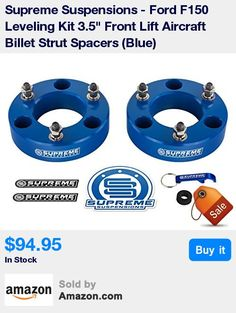 FITMENT: 2004 - 2008 Ford F-150 (2WD 4WD), 2003 - 2014 Ford Expedition (2WD 4WD), 2005 - 2008 Lincoln Mark LT (2WD 4WD). * CONTENTS: 2x Aircraft Billet Front Strut Spacers, Installation Hardware, Installation Instructions, and Supreme Suspensions Pro Pack. * TECHNICAL NOTES: 3.5 inch front suspension leveling lift. Factory shocks can be reused without compromising ride quality. Please note that spacer thickness to lift height is NOT a 1:1 ratio. It is recommended that you measure your vehicl