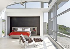 Contemporary Bedroom by Ray Frizzell Design and Alexander Gorlin Architects in Ketch Harbour, Nova Scotia