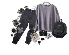 """""""grey"""" by m0thgirl ❤ liked on Polyvore featuring CASSETTE, Levi's, American Apparel, adidas, Topshop, Nintendo and grunge"""