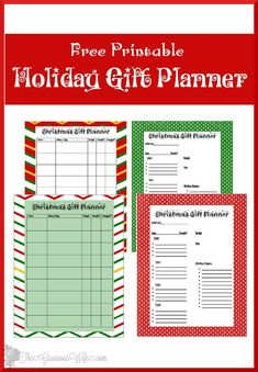 Use this Free Christmas Gift Planner Printable to keep you organized this Christmas season. Check off what you've done and know what you still have left! Free Christmas Gifts, Holiday Crafts, Christmas Holidays, Christmas Ideas, Xmas, Christmas Stuff, Christmas Recipes, Christmas Presents, Planner Pages