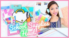 Back to School Supplies Haul 2015 + Giveaway!!