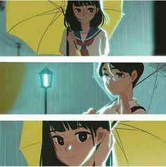 3 parts in the rain #umbrella