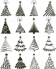 Copy on chalkboard - Christmas Tree Collection Royalty free vector graphics royalty-free stock vector artChristmas Tree Collection Lizenzfreie Vektorgrafiken Lizenzfreies vektor illustration Source by taylUno gigante para la pared Various Christmas T Christmas Art, Christmas Projects, Winter Christmas, All Things Christmas, Christmas Decorations, Fall Winter, Christmas Tree Stencil, Christmas Tree Graphic, Christmas Doodles