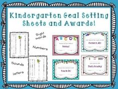 This FREEBIE is a kindergarten goal tracking sheet and matching awards. Track: Capital letters Lowercase letters Letter sounds Numbers up to 20 31 sight words Awards for: Counting to 20 Counting to 100 Knowing their ABC's Reading all their sight words