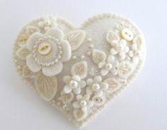 coração de feltro casamento - Pesquisa Google
