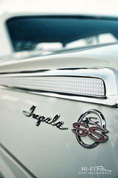 1962 Chevrolet Impala SS rear fender badge ... A classic design!