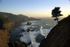 A Scenic View Of The Oregon Coast Photograph by Phil Schermeister