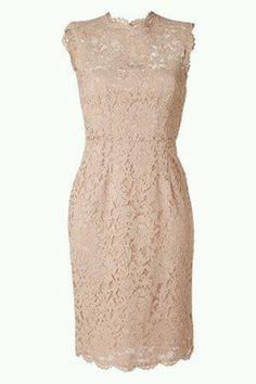 Lace nude dress